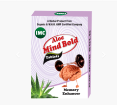 100 % herbal AYUVEDIC ALOE Mind Bold Tablets -30 TABLETS - $21.77