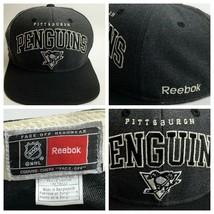 Pittsburgh Penguins Reebok Face Off Headwear Hat Pens Logo Snapback OSFA - £12.74 GBP