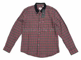 Levis Jeans Mens Red/ Black Plaid Check Contrast Corduroy Collar Shirt W... - $42.75