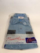NEW Elbeco Perma Press Officer Guard Uniform Shirt Size 15 Blue Short Sl... - $14.99