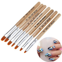 7Pcs Set Hot Acrylic Nail Art Pen Tips UV Builder Gel Painting Brush Man... - $15.00