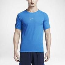Nike Mens Photo Blue AeroReact Short Sleeve Training T-Shirt Running Medium - $69.99