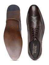 Leather Fashion Formal Shoes Genuine Teakwood Brown Men's 1HxwRqFFS