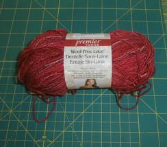 One Skein Wool Free Lace Premier Yarns Super Fine 3.5 oz Acrylic Blend R... - $6.61