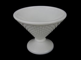 Vintage Westmoreland Tapered Candy Dish, Graduated Diamond Cut Milk Glas... - $9.75
