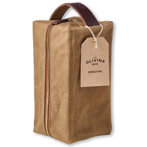 Olivina Men Khaki Waxed Canvas Travel Bag - $35.00