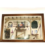 History of Golf Collectible Shadow Box Wood Framed Wall Hanging Case Clu... - $148.49