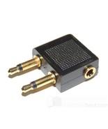 Adattatore Aereo flugzeug-adapter 2 3,5mm mono jack AN stereo presa - $3.51