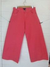 RALPH LAUREN 32 coral wide leg high waist cotton denim jeans - $22.28