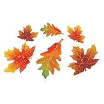 Parchment Fall Leaves 12 Pc Small Autumn Leaf Cutouts Decorations - $7.43 CAD