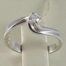 White Gold Ring 750 18k, Solitaire, Braided Cross, Diamond, CT 0.12 image 2