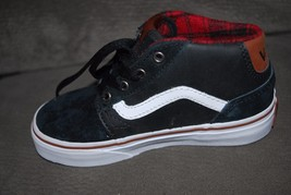 Vans Chapman Mid Youth Leather Black/Tortoise Shell Skate Shoe 11Y NEW - $49.99