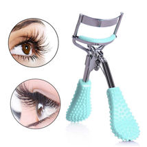 Durable Women Girls Massage Handle Eyelash Curler Eyelashes Makeup Curli... - ₨584.62 INR