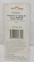 Hosa Technology GPP296 Coupler Quarter Inch Mono To Same image 2