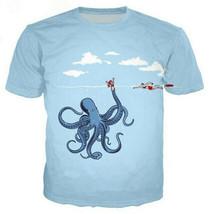 New Fashion Men/Women Animal Octopus 3D Print Casual T-Shirt Short Sleeve  - $31.30