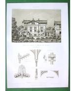 ARCHITECTURE PRINT : Germany Berlin Muller Family Villa facade & Details - $25.32