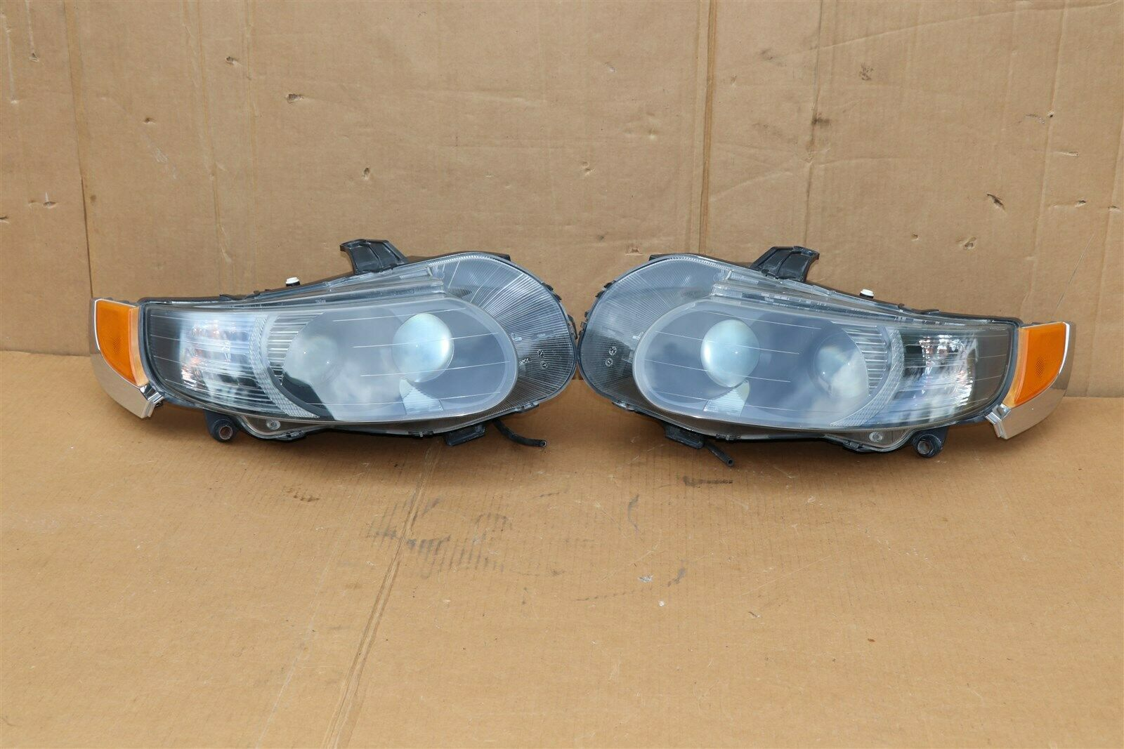 06-09 Saab 9-5 HId Xenon Headlight Head Light Lamps Set L&R - POLISHED
