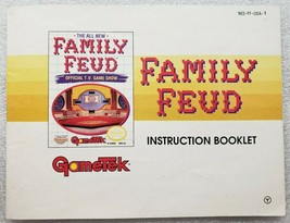 Family Feud Nintendo NES Instruction Manual - $6.92