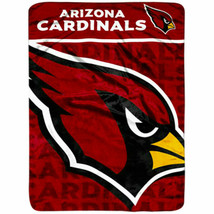 """Arizona Cardinals Plush Throw 46"""" x 60"""" - $24.99"""