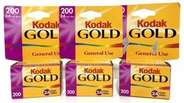 Kodak GOLD 200 Speed Film 35mm 3 Pack Expired 09/2001 Vintage NEW In Box - $18.69