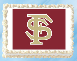 """Florida State Edible Image Topper Cupcake Cake Frosting 1/4 Sheet 8.5 x 11"""" - $11.75"""