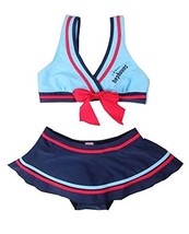 Beautiful Baby Girl Swimsuit Lovely Bikini Toddler Swimsuit Blue (1~3Y)
