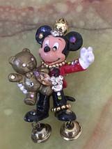 One off Vintage Mickey Mouse Gorgeous Swarovski Rhinestone Brooch Brass ... - $157.41