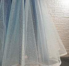 Women Frozen Blue Tulle Skirt Outfit Multi-Color Plus Size Wedding Party Skirt image 7