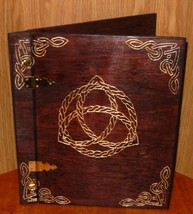 Wooden Handcrafted Rope Triquetra Book of Shadows/Journals - $72.39