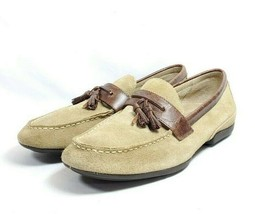 RJ Colt Driving Loafers Men's Sz 9.5 Tan Suede Tasseled Leather Uppers (... - $39.99