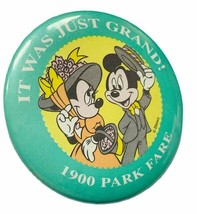 Walt Disney World button pinback pin souvenir disneyland 1900 park fare ... - $16.40