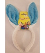 Bunny Rabbit Ears Headband Party Kids Fluffy Dress Up Costume Blue and W... - $3.96