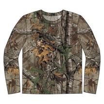 Realtree Extra Hombre Manga Larga de Algodón Camuflage Caza Camiseta - $18.04