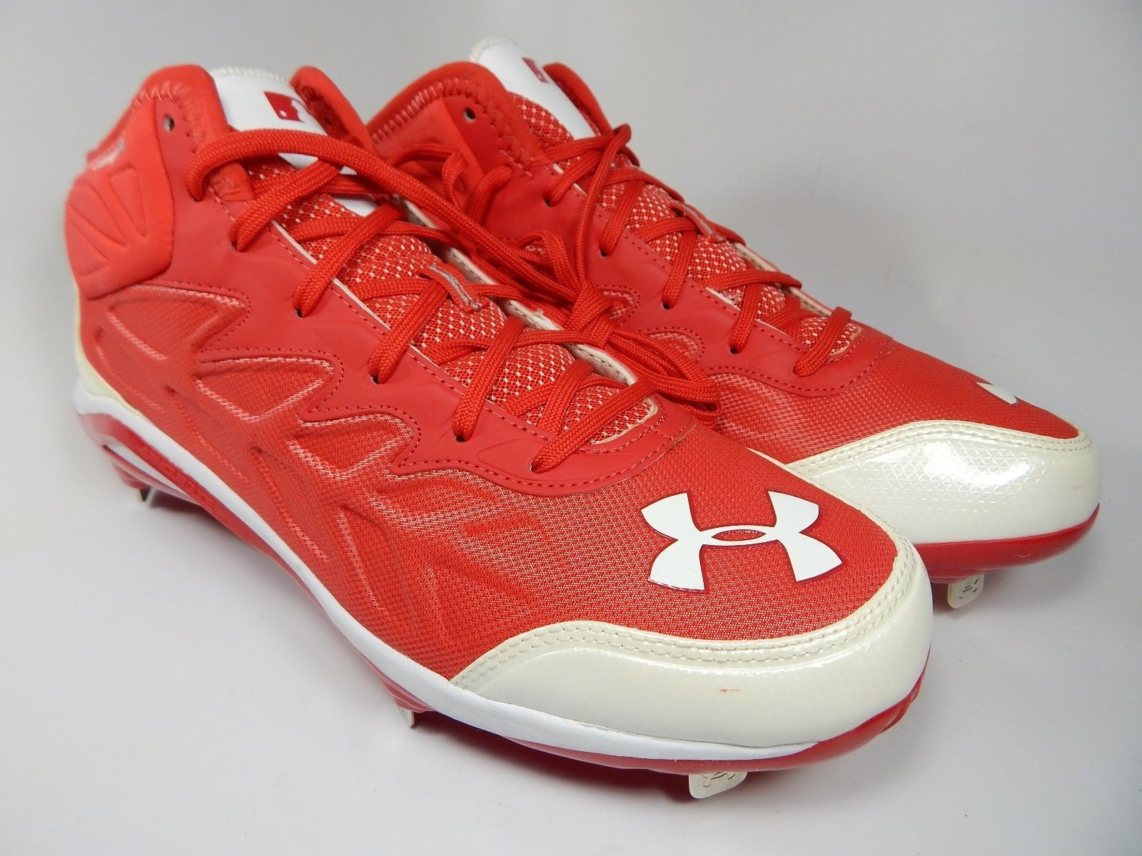 pick up eb9a9 2b655 57. 57. Previous. Under Armour Heater ST Mid Top Size 12 M EU 46 Metal  Baseball Cleats 1248197-