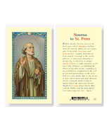 St. Peter Novena Laminated Prayer Holy Card 25-Pack - $24.99