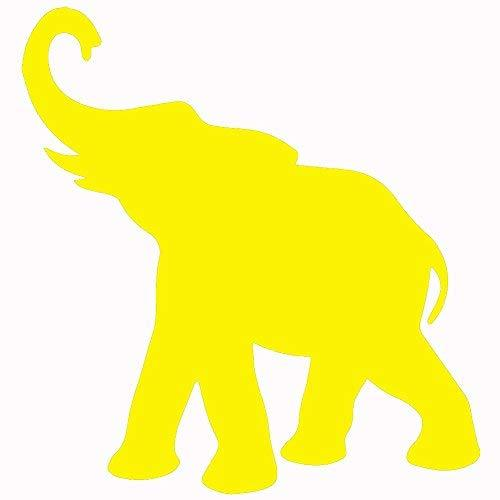 "Primary image for ELEPHANT V1 Vinyl Decal by stickerdad - size: 5"", color: YELLOW - Windows, Walls"