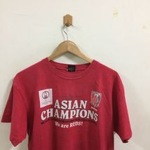 J League Urawa Reds Asian Champion Soccer Football T-Shirt Size L Red, Japan JFA image 4