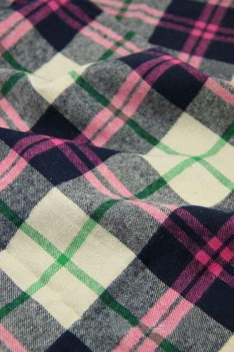 57'' Wide Handworked Emerizing Fabric Cotton Plaid Fabric Purple(17.557 Inches)