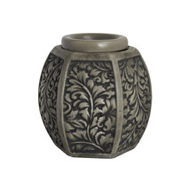 Home Indoor Decorative Scented Carved Laurel Full Size Ceramic Wax Warmer - Grey - $21.91