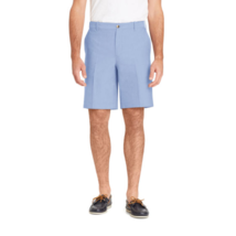 IZOD Men's Flat Front Shorts Newport Oxford Blue Revival Size 42W NEW - $34.64