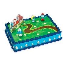 Smurf Themd Birthday Cake Kit by Bakery Crafts - $6.99