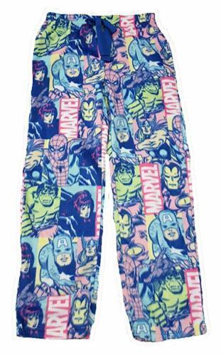Lg 12-14 Women's Marvel Comics Avengers Black Widow Minky Fleece Sleep Pants