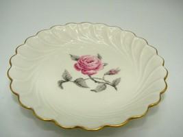 Authenic HAVILAND Limoges  Tea Bag Holders Pink Rose w/Gold Trim - $10.39