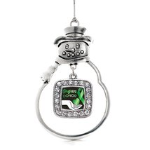 Inspired Silver Organ Donor Classic Snowman Holiday Decoration Christmas Tree Or - $14.69