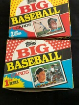 1989 Topps Big Baseball Cards 1st Series & 2nd series 36 cards full box - $13.85