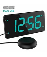 Loud Alarm Clock with Bed Shaker, Vibrating Eye-Protection Green - $38.38