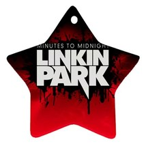Memorabilia Star Ornament - Linkin Park Star Procelain Ornaments Christmas  - $3.49