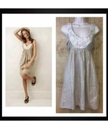 Anthropologie Sweet Olive Shift Dress by Molly New York Shimmery Beige S... - $24.65