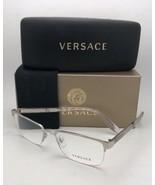 Neuf Versace Rx-Able Lunettes Ve 1241 1000 54-18 145 Semi sans Argent Ca... - $350.10