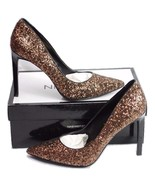Nine West Womens High Heel Pointed Toe Sparkly Bronze (Size 8.5 M) Tatiana  - $30.99